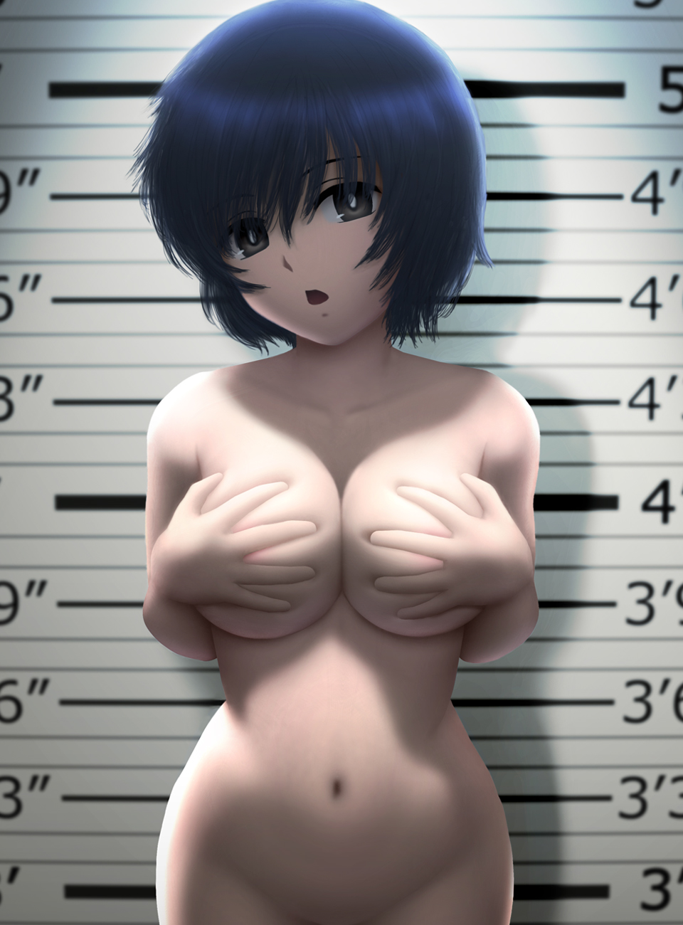 areola breast_hold cleavage naked nazo_no_kanojo_x siraha urabe_mikoto