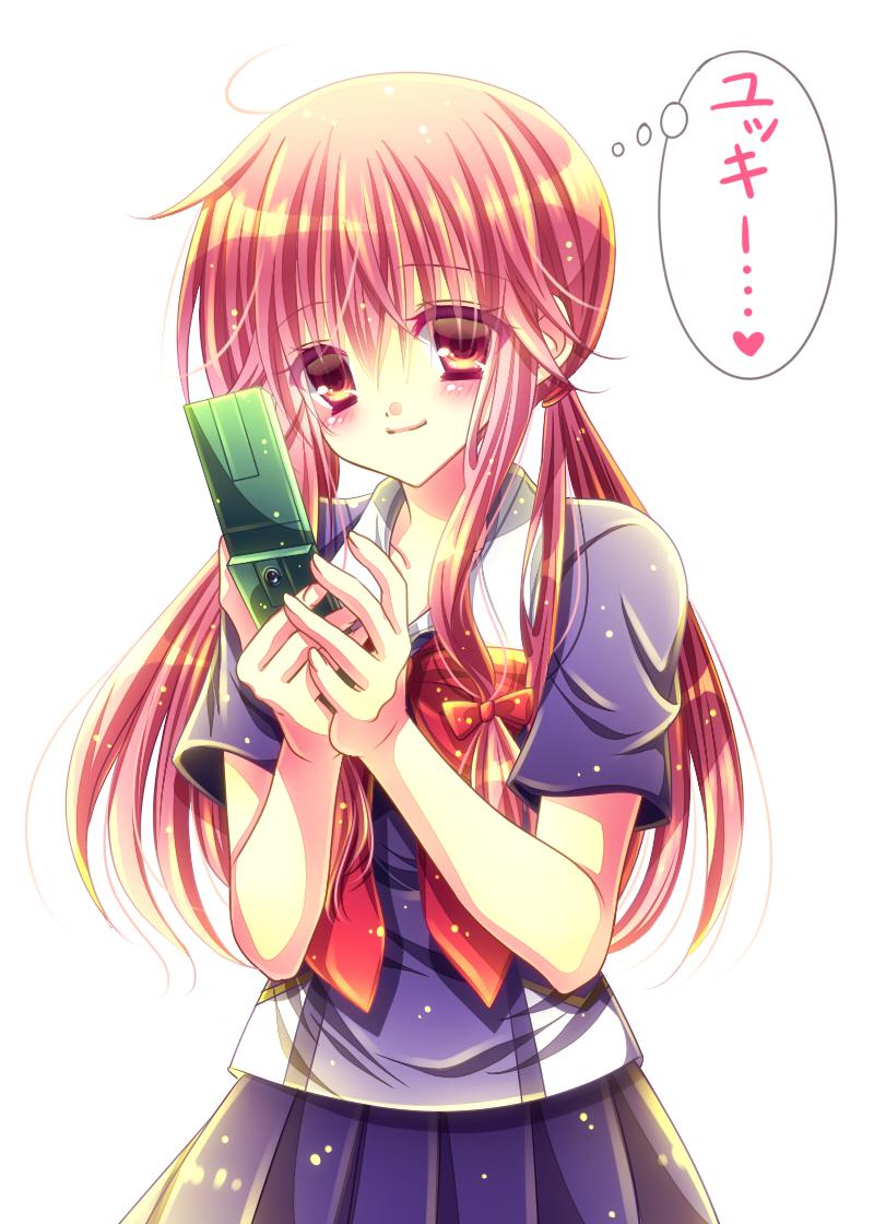 gasai_yuno mirai_nikki momomiya_mion seifuku