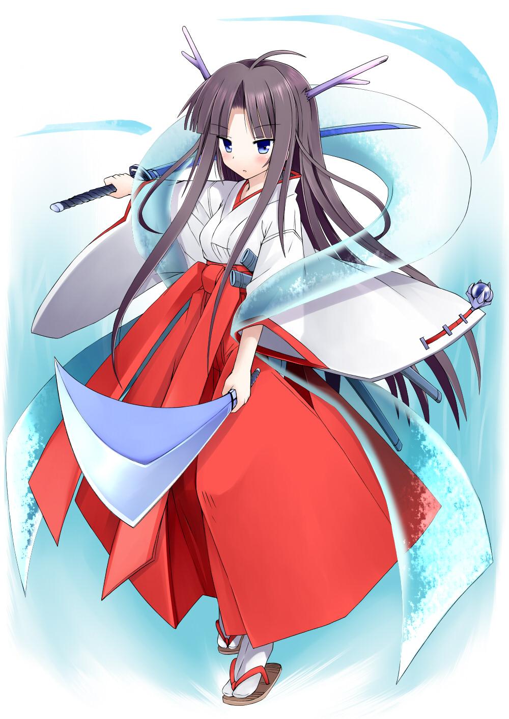miko suika_(artist) sword