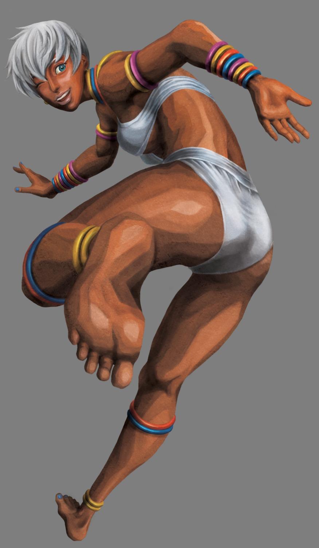 bikini capcom elena feet street_fighter street_fighter_iii swimsuits teshigawara_kazuma transparent_png underboob