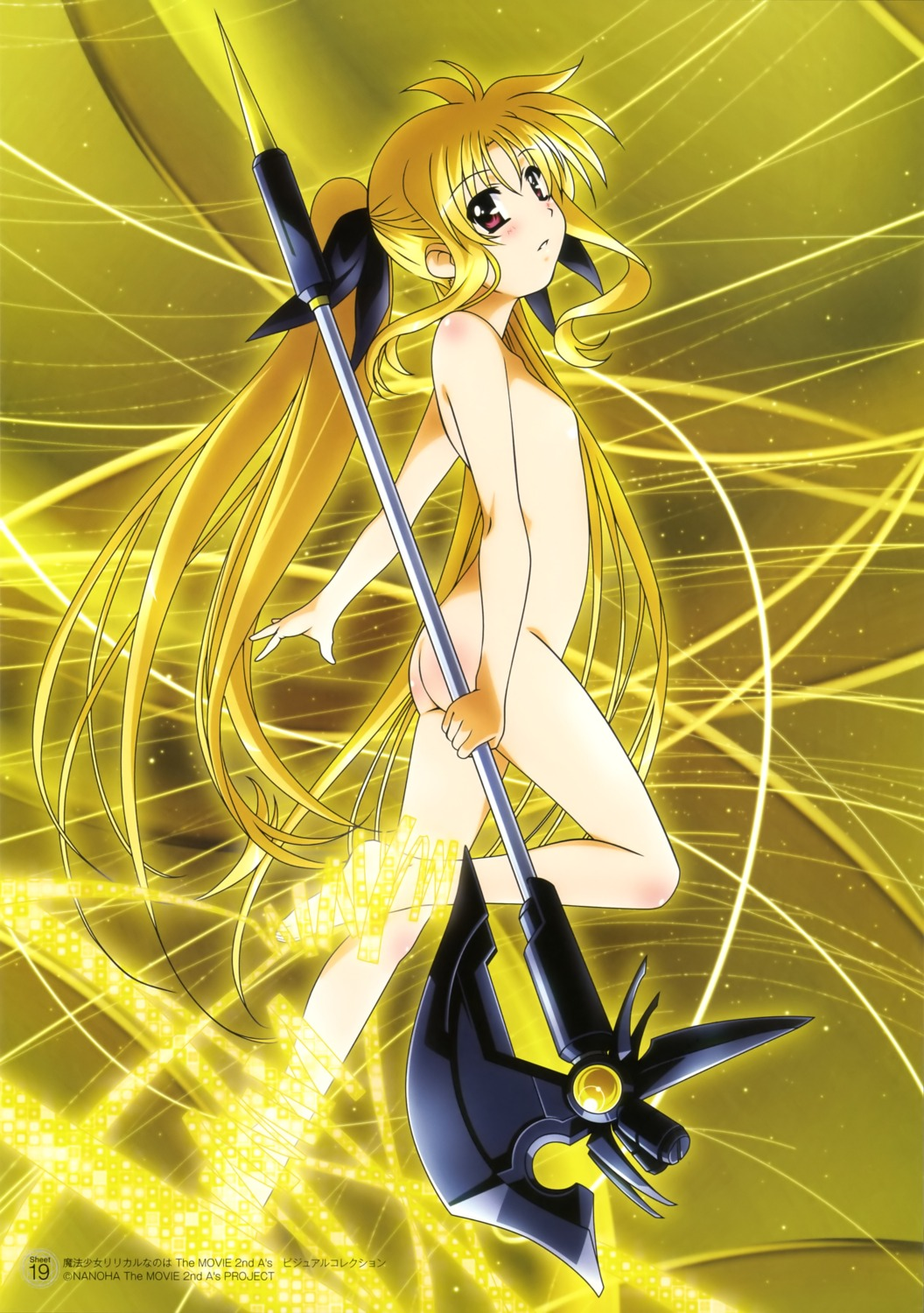 fate_testarossa loli mahou_shoujo_lyrical_nanoha naked weapon