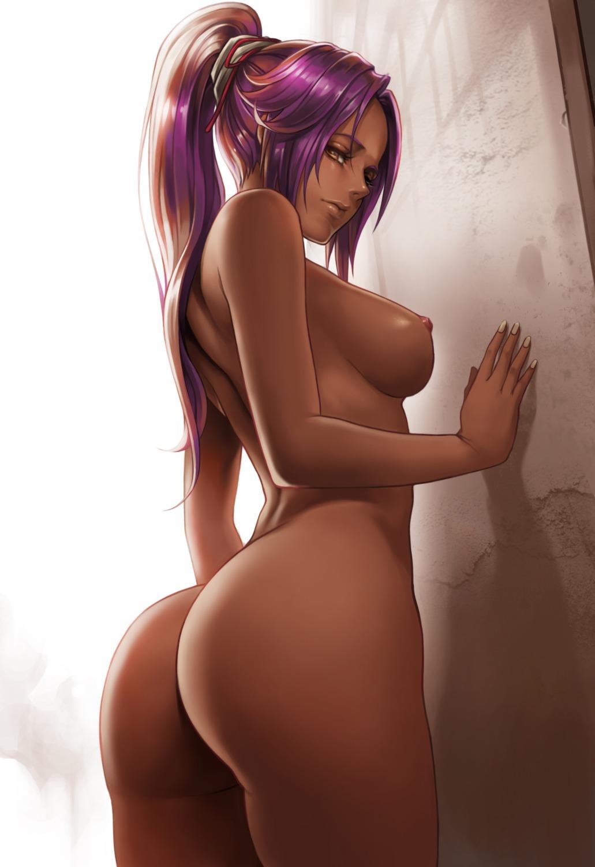 ass bleach dantewontdie naked nipples shihouin_yoruichi