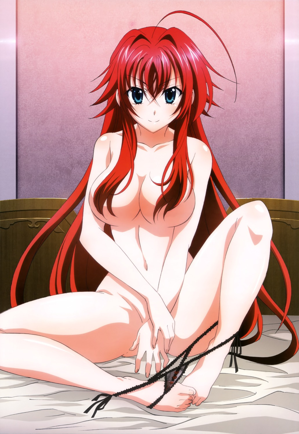 feet highschool_dxd naked pantsu panty_pull rias_gremory string_panties
