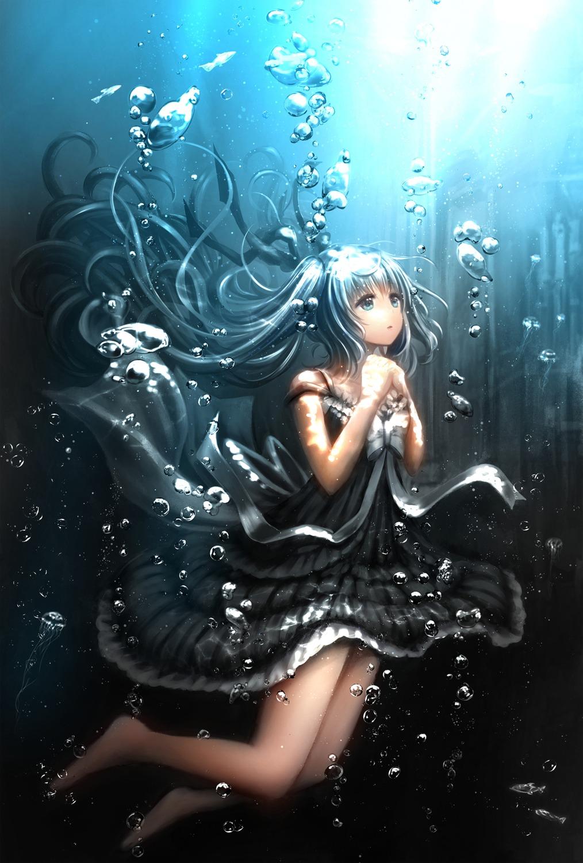 catbell dress hatsune_miku vocaloid