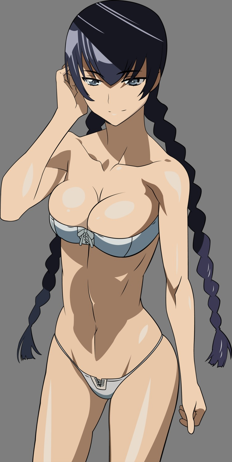 bikini busujima_saeko chanceandluck cleavage highschool_of_the_dead swimsuits transparent_png vector_trace
