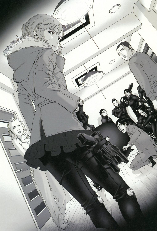 bodysuit gantz gun kozaki_yuusuke scanning_artifacts