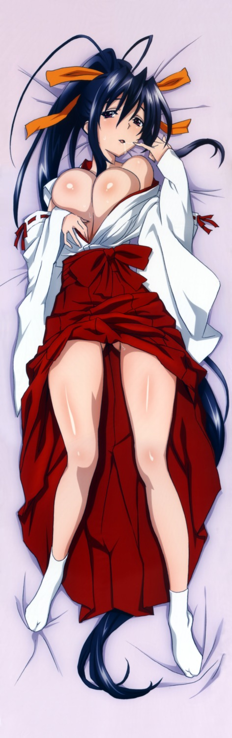 cleavage dakimakura fixed highschool_dxd himejima_akeno miko no_bra