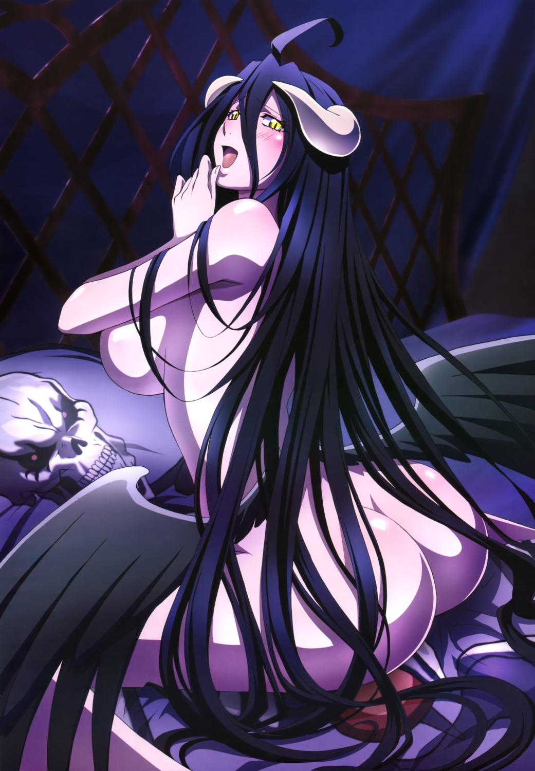 albedo_(overlord) ass horns naked overlord wings