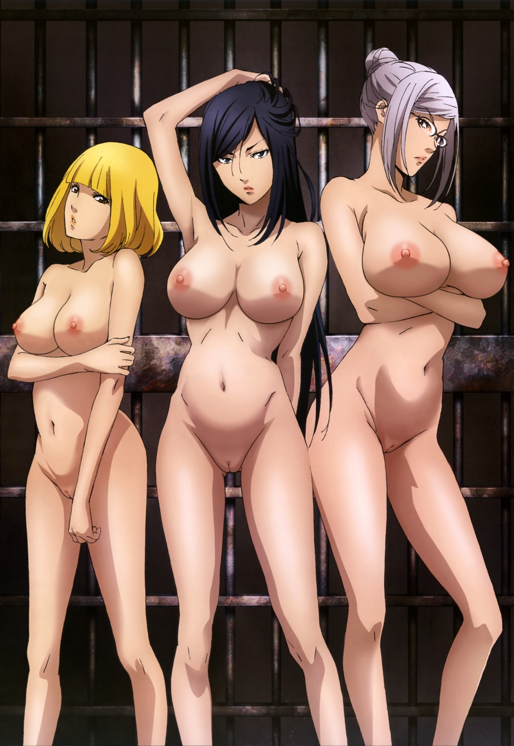 kurihara_mari megane midorikawa_hana naked nipples photoshop prison_school pussy shiraki_meiko uncensored