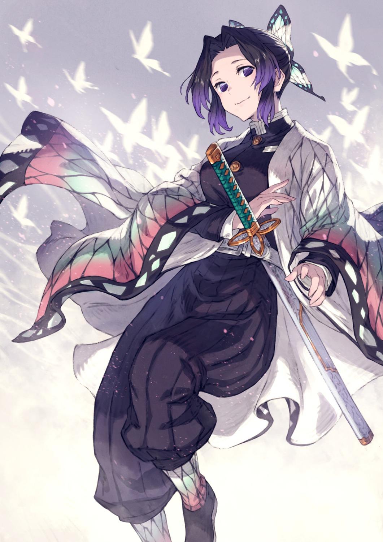 kimetsu_no_yaiba kochou_shinobu sword