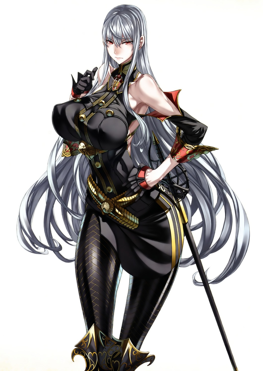 erect_nipples honjou_raita selvaria_bles sword valkyria_chronicles valkyria_chronicles_duel