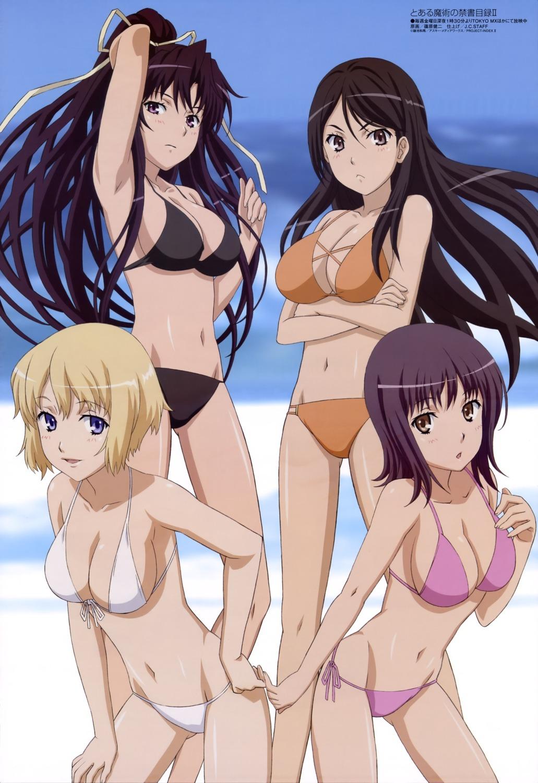 bikini cleavage fukiyose_seiri itsuwa kanzaki_kaori orsola_aquinas shinohara_kenji swimsuits to_aru_majutsu_no_index
