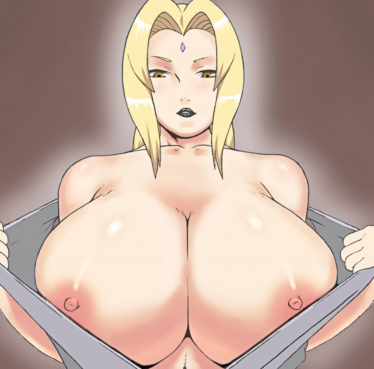 apostle breasts naruto nipples no_bra open_shirt tsunade