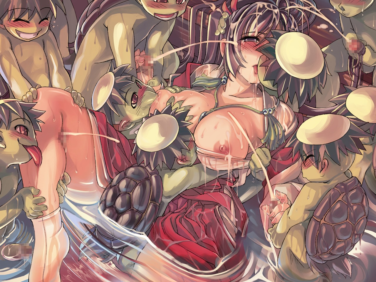 breasts censored cum extreme_content gangbang monster nipples penis ragnarok_online sex wallpaper xration