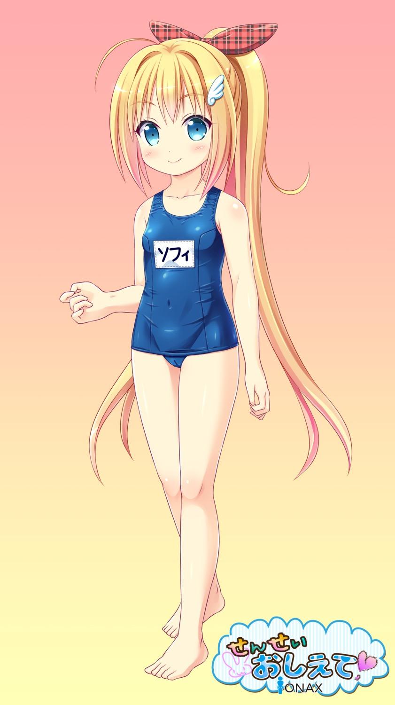 cameltoe feet loli ooizumi_daisaku school_swimsuit swimsuits