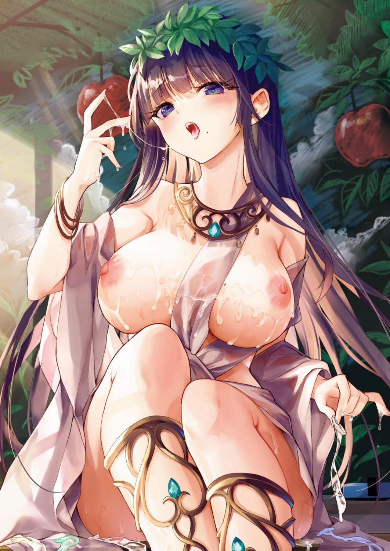 breasts cum detexted nipples no_bra tamano_kedama