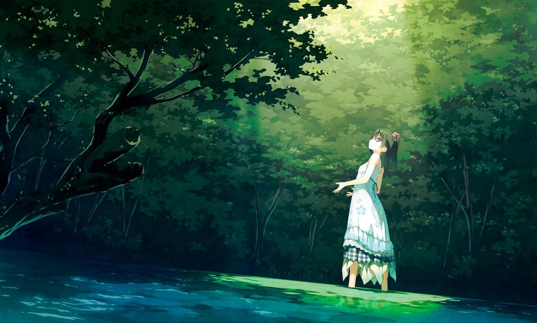 5_nenme_no_houkago calendar detexted dress kantoku landscape photoshop shizuku_(kantoku) wet